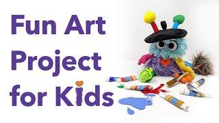 Easy Art Activity for Kids - Tear & Draw