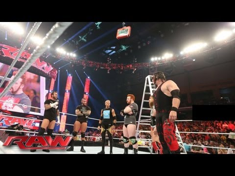 The Money in the Bank All-Stars brawl at the start of Raw: Raw, July 1, 2013