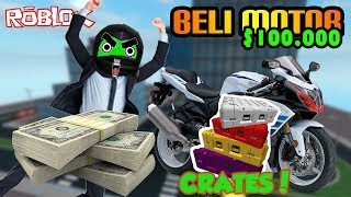 Roblox Indonesia | Vehicle Simulator | Beli Motor Sambil Buka Crates!!! 😍😍