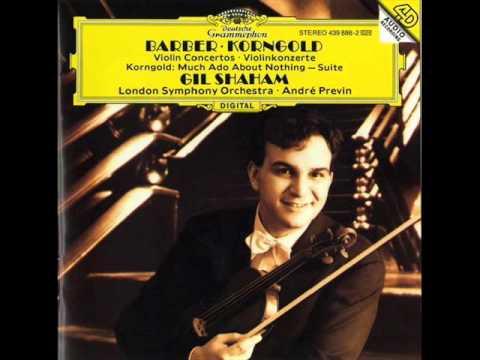 Samuel Barber Violin Concerto Op. 14. Gil Shaham - YouTube