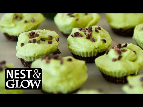 Chocolate Avocado Lime Cheesecakes Recipe - NO MUSIC