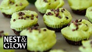 Chocolate Avocado Lime Cheesecakes Recipe - NO MUSIC