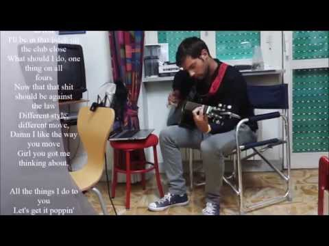 Milow - Ayo Technology - Acoustic Fingerstyle Guitar Cover Karaoke with Lyrics by Milo