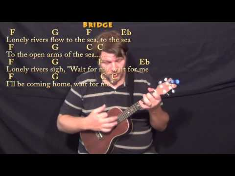 Unchained Melody - Ukulele Cover Lesson In C With Chords/Lyrics