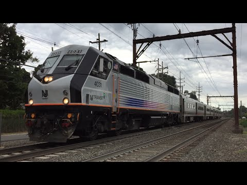 NJ Transit HD 60fps: Morristown Line Evening Trains Around Convent Station 8/10/15 (Lots of Horn)