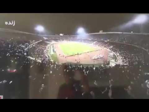 IRAN NOHA KHWANI IN FOOT BALL STADIUM