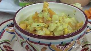Goodtaste.tv - Healthy Halloween Candy Corn Chowder!