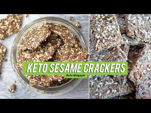 How To Make Keto Sesame Crackers Gluten Free No Almond Flour | Abigayle Keto diet