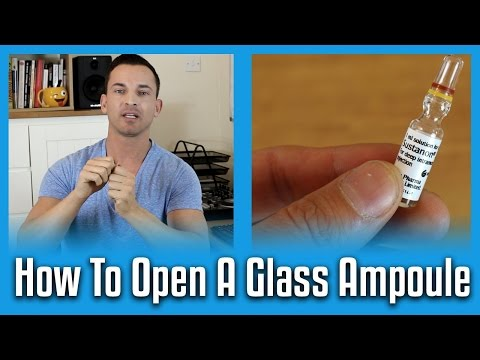 How To Open A Glass Ampoule The Right Way