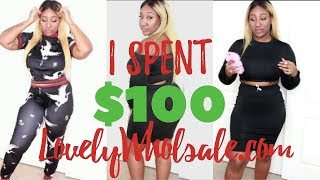 I SPENT $100 ON LOVELYWHOLESALE.COM!!! OMG!! PLUS SIZE TRY ON | IAM_NETTAMONROE