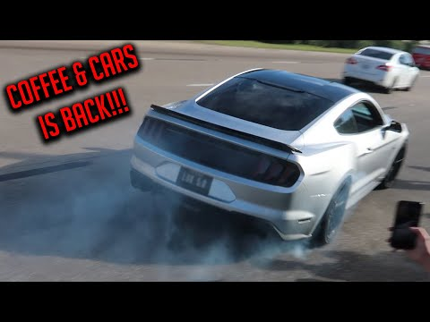 COPS CANT STOP CRAZY MUSCLE CAR DRIVERS LEAVING COFFEE AND CARS HOUSTON! - Cars and Coffee November