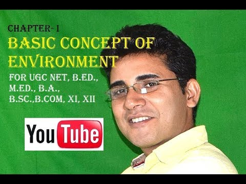 Chapter-1: BASIC CONCEPT OF ENVIRONMENT