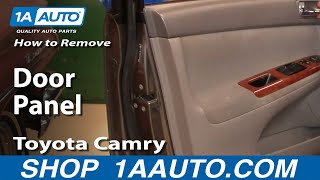 How To Remove install Door Panel Toyota Camry 02-06 1AAuto.com
