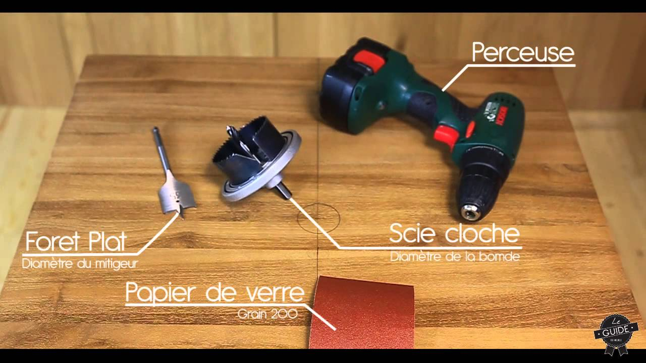 Le guide du meuble comment installer une vasque s01 for Percer trou carrelage