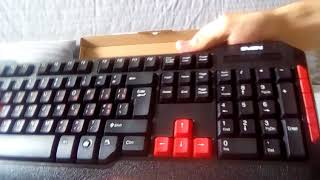 Обзор Распоковка Игровой Клавиатуры SVEN CHALLENGE 9000 COMBO USB