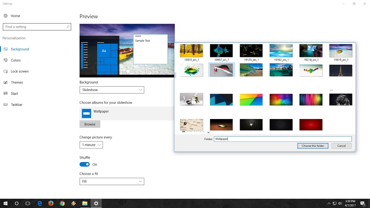 How To Make Auto Wallpaper Changer In Windows 10 (Auto