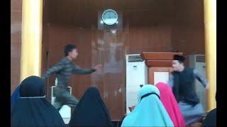 Penyerangan Terhadap Ustadz Chaniago Saat Berceramah di Masjid Baitusysakur Batam