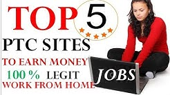 Top 5 Best Ptc Sites 2017 II Highest Paying Trusted Paid To Click Jobs II Earn $20 everyday