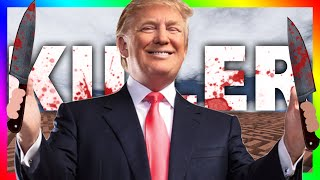 KILLER DONALD TRUMP!?!? | Gmod Horror Maze (CHASED BY DONALD TRUMP)