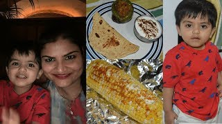 #Vlog: Sharing Good News | Making Stuffed Capsicum And Oven Roasted Sweet Corn | Real Homemaking