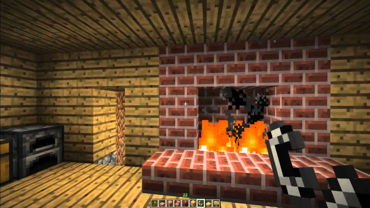 How to make a FirePlace and Chimney in Minecraft Minecraft Furniture Episode 5  YouTube