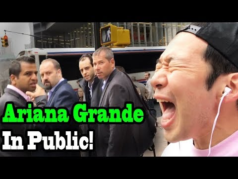 "ARIANA GRANDE - ""No Tears Left to Cry"" - SINGING IN PUBLIC!!"