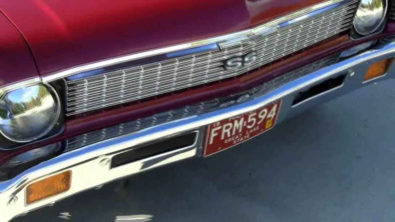 1972 Chevy Nova Restored Classic Muscle Car For Sale In Mi Vanguard