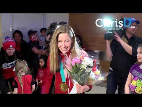 Manitoba's Olympians Return Home - February 26, 2018 - Winnipeg, Manitoba