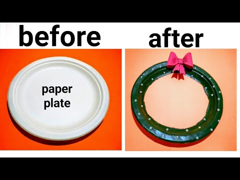 Two best ways to use waste paper plate. Christmas diy.