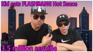 kid eats flashbang 35 million scoville hot sauce beastie boys tribute crude brothers