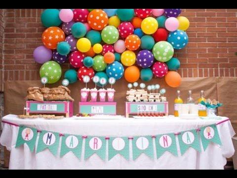 Como decorar una fiesta infantil sencilla youtube for Como decorar una casa sencilla