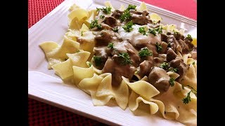 Beef Stroganoff Recipe - A Delicious Version of a Russian Classic! - Episode #199