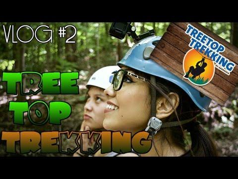 VLOG #2 Treetop Trekking with friends!!