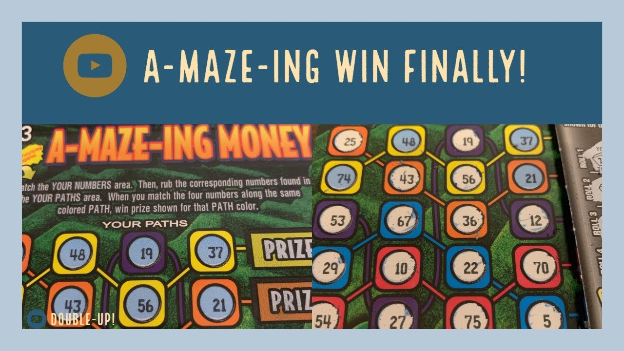 2X WINNER A-MAZE-ING MONEY! Completed three lines!! Colorado Lotto Scratch  Tickets!