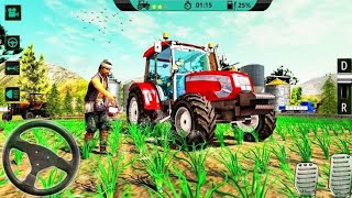Real Tractor Drive Cargo 3D:New Tractor Trolley game 2020 Village Mode Driving Level 10. screenshot 2