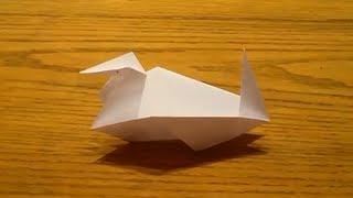 Faire Un Canard En Origami - Oiseau En Papier