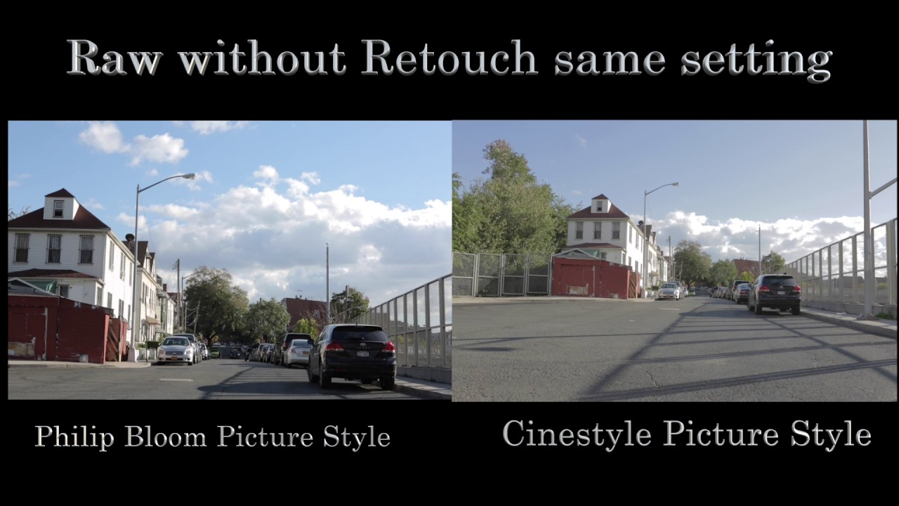 Canon 5D Mark III |Picture style setting | Philip bloom | Vs | Cinestyle |  HD
