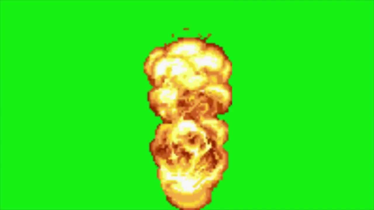 source  explos u00e3o metal slug em tela verde  chromakey