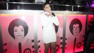 JORDIN SPARKS gets LOVEY while DJ WHOO KID DJ HER SET at WIP NEW YORK.