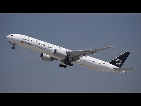 "Air China ""Star Alliance"" Boeing 777-300ER [B-2032] Departing LAX."
