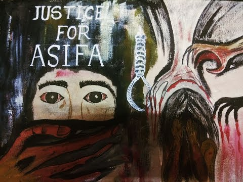 Justice For Asifa/ Rape Free Society/ Justice For Asifa by Canvas painting/