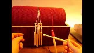 Осваиваем плетение на коклюшках  Намотка ниток Скользящая петля