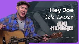 Hey Joe Solo Jimi Hendrix Guitar Lesson Cs-005 Blues Rock Classic