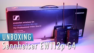 Unboxing Sennheiser EW112p G4 | THE BEST LAVALIER MIC?