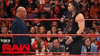 Kurt Angle denies Roman Reigns another Money in the Bank Qualifying Match: Raw, May 14, 2018
