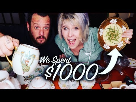 We SPENT $1000 on Antiques for RESALE   Glorious Treasures   Reselling