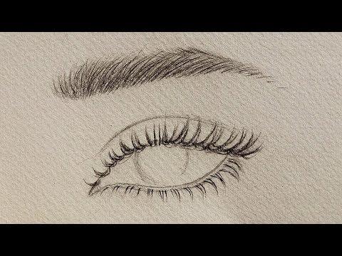 تعليم الرسم بالرصاص كيف ترسم شعر الرموش والحواجب شرح بالتفصيل