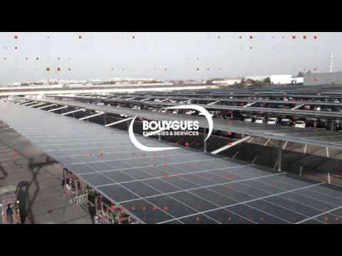 Plus grand projet ombrières photovoltaïques France