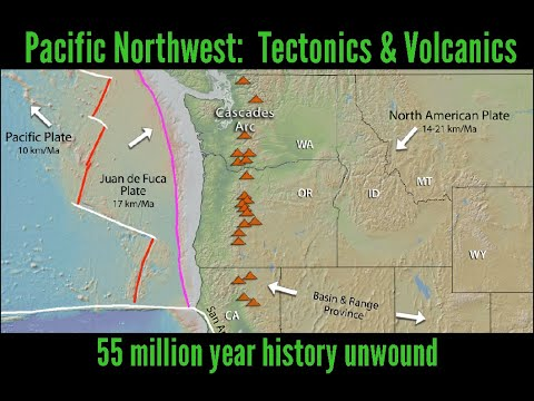 Volcanic evolution of the Pacific Northwest: 55 million year history