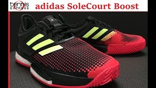 adidas SoleCourt Boost Tennis Shoe Preview | Tennis Express